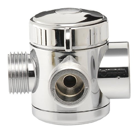 Plumb Craft 7653900 3-Way Shower Diverter Valve, Chrome