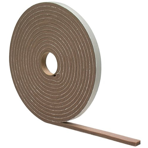 M-D Building Products 2816 High Density Foam Tape, 1/4-By-1/2-Inch-By-17 Feet, Closed Cell, Brown