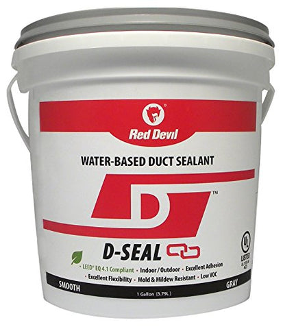 Red Devil 0841Di D Seal Water Based Duct Sealant, 1 Gallon, Gray