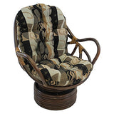 Blazing Needles Patterned Jacquard Chenille Swivel Rocker Chair Cushion, 48  X 24 , Elysian Fields
