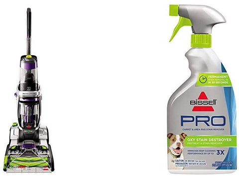 Bissell Proheat 2X Revolution Pet Pro Full-Size Carpet Cleaner, 1986 &  Destroyer Pet Plus, 1773, 22 Oz Oxy Stain Pretreat, 22 Fl Oz