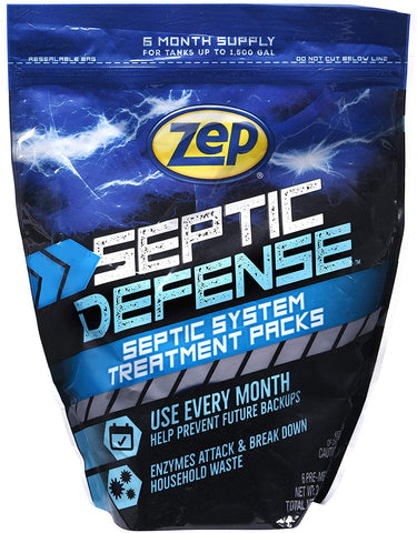 Zep Septic Defense Septic System Treatment Packs 6/Ct Zstp6