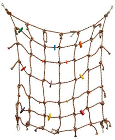 "Climbing Net 30"" x 30"" - Cotton (1/4"" rope)"