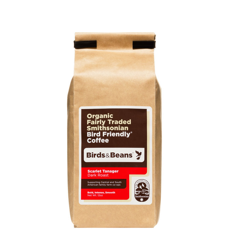 Scarlet Tanager, French Roast Coffee - 12 ounces