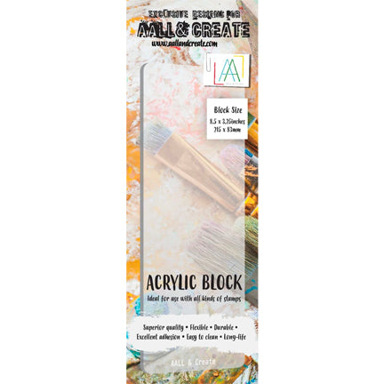 Acrylic Stamping Block, Border, by AALL & Create