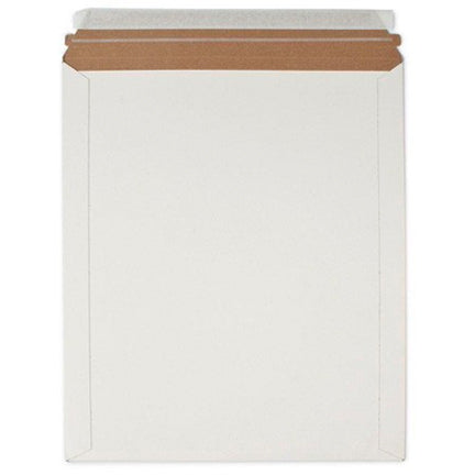 "White 6"" x 6"" Rigid Lay Flat Mailer with Seal, Set of 5 by Royal Mailers"