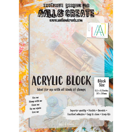 Acrylic Stamping Block, A4, by AALL & Create