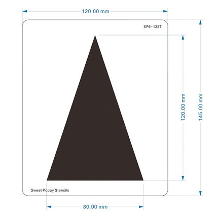 Aperture Tall Triangle Stencil by Sweet Poppy