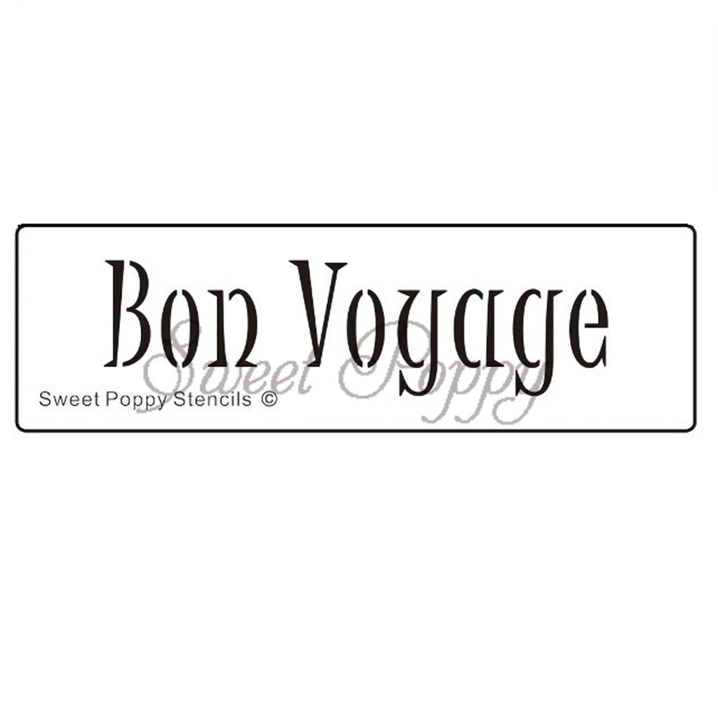 Bon Voyage Stencil by Sweet Poppy