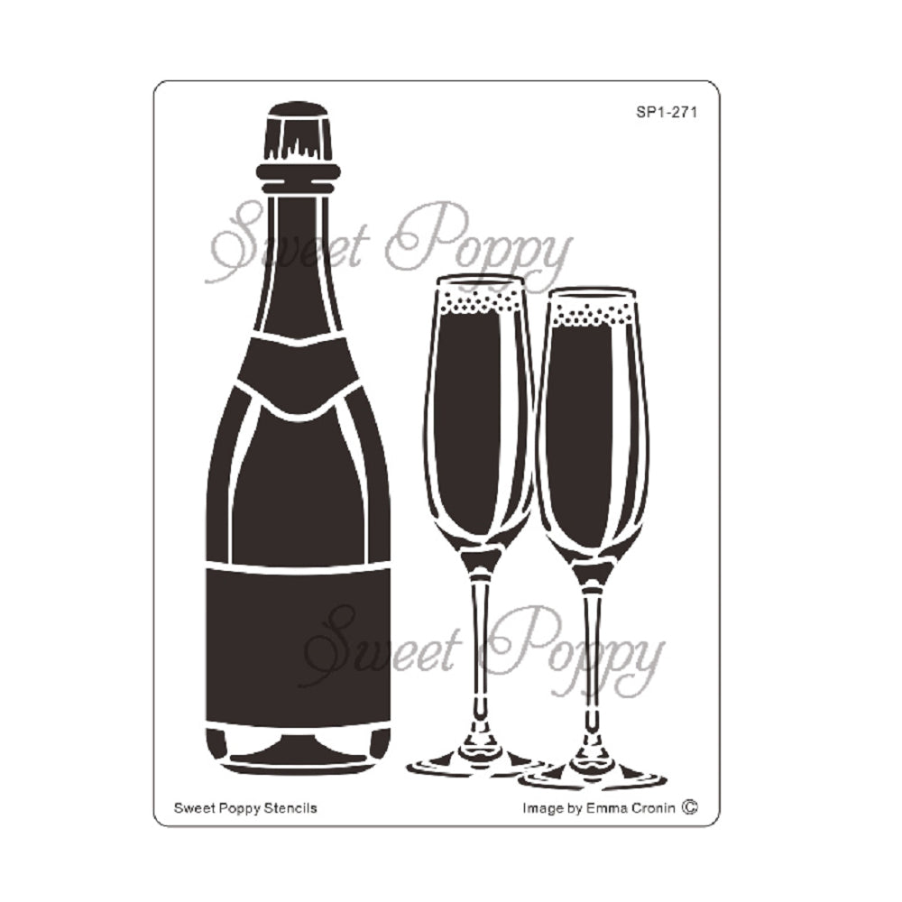 Boozie Bubbles Stencil by Sweet Poppy