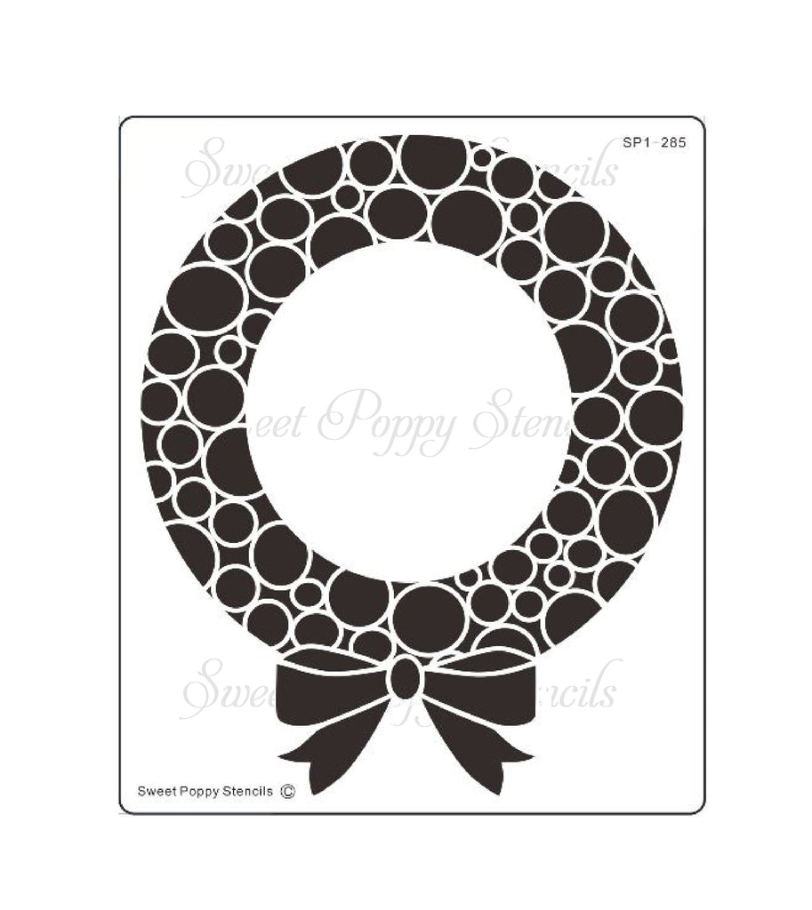 Bubble Wreath Stencil by Sweet Poppy