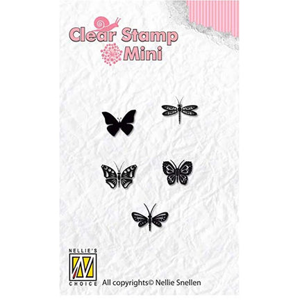 Mini Butterflies Stamp by Nellie's Choice