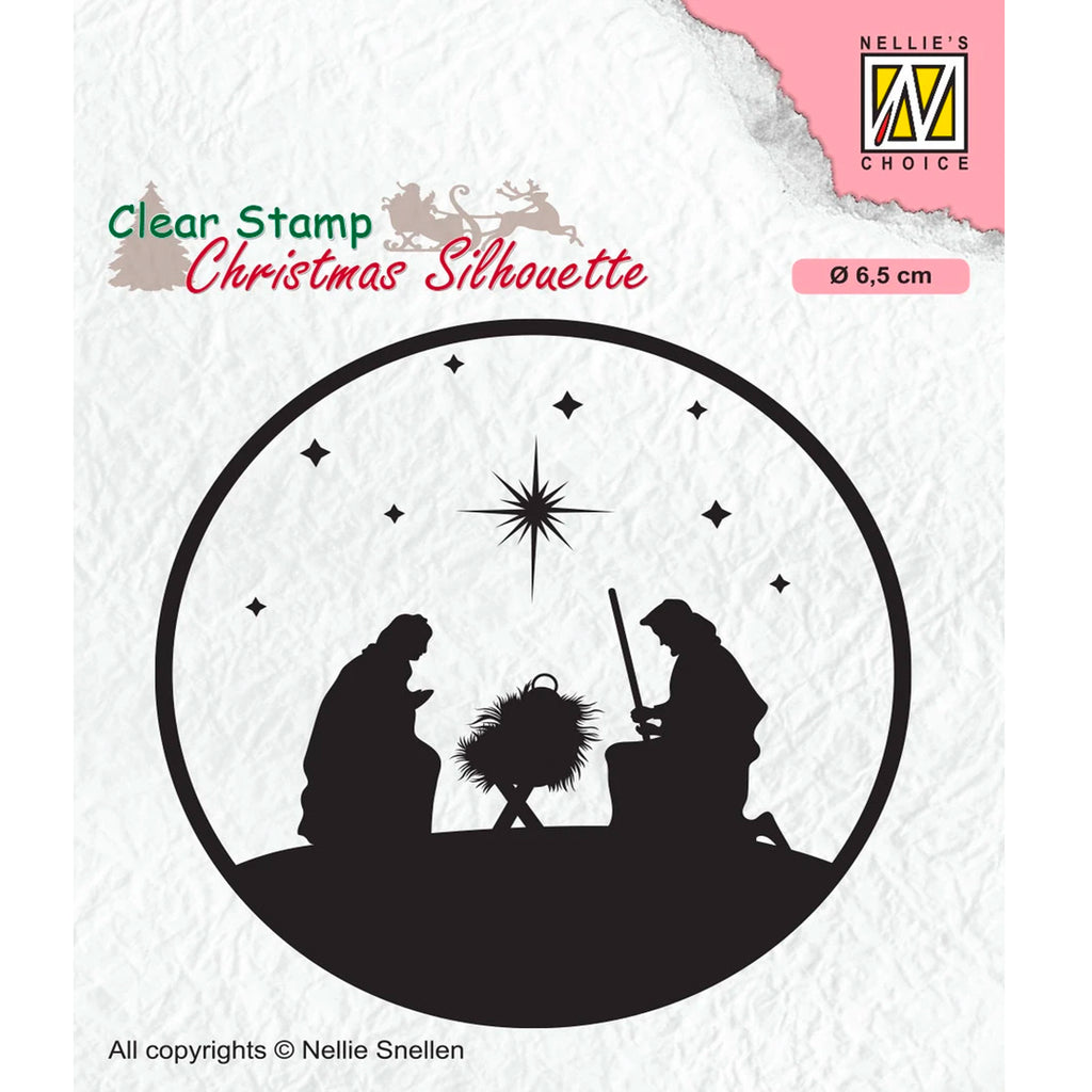 Christmas Silhouette Nativity 03 Stamp by Nellie's Choice