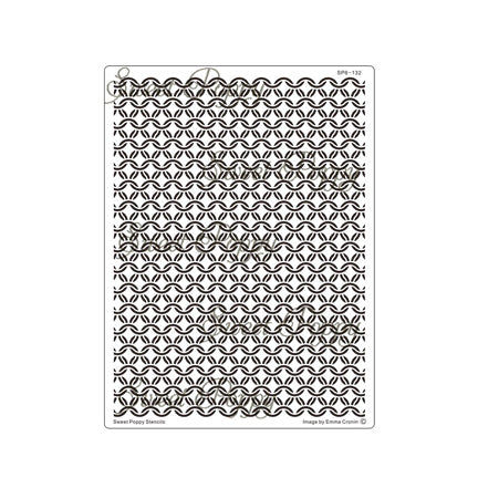 Chainmail Backplate Stencil by Sweet Poppy