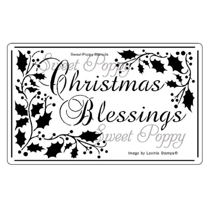 Christmas Blessings Stencil by Sweet Poppy