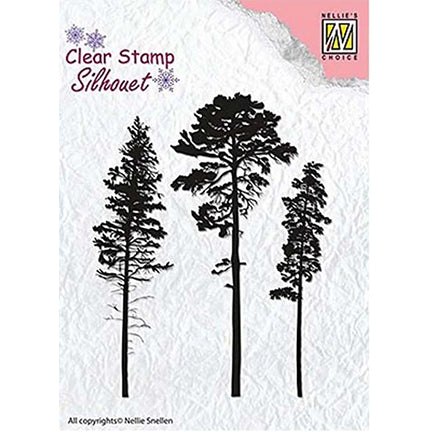 Silhouette 3 Pine Trees Stamp by Nellie's Choice