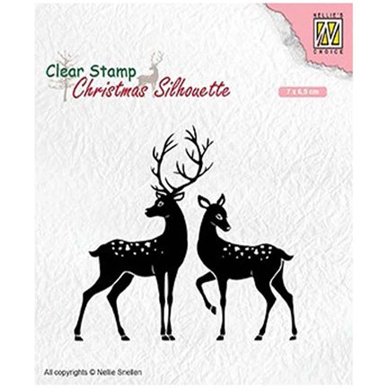 Christmas Silhouette Deer Stamp by Nellie's Choice
