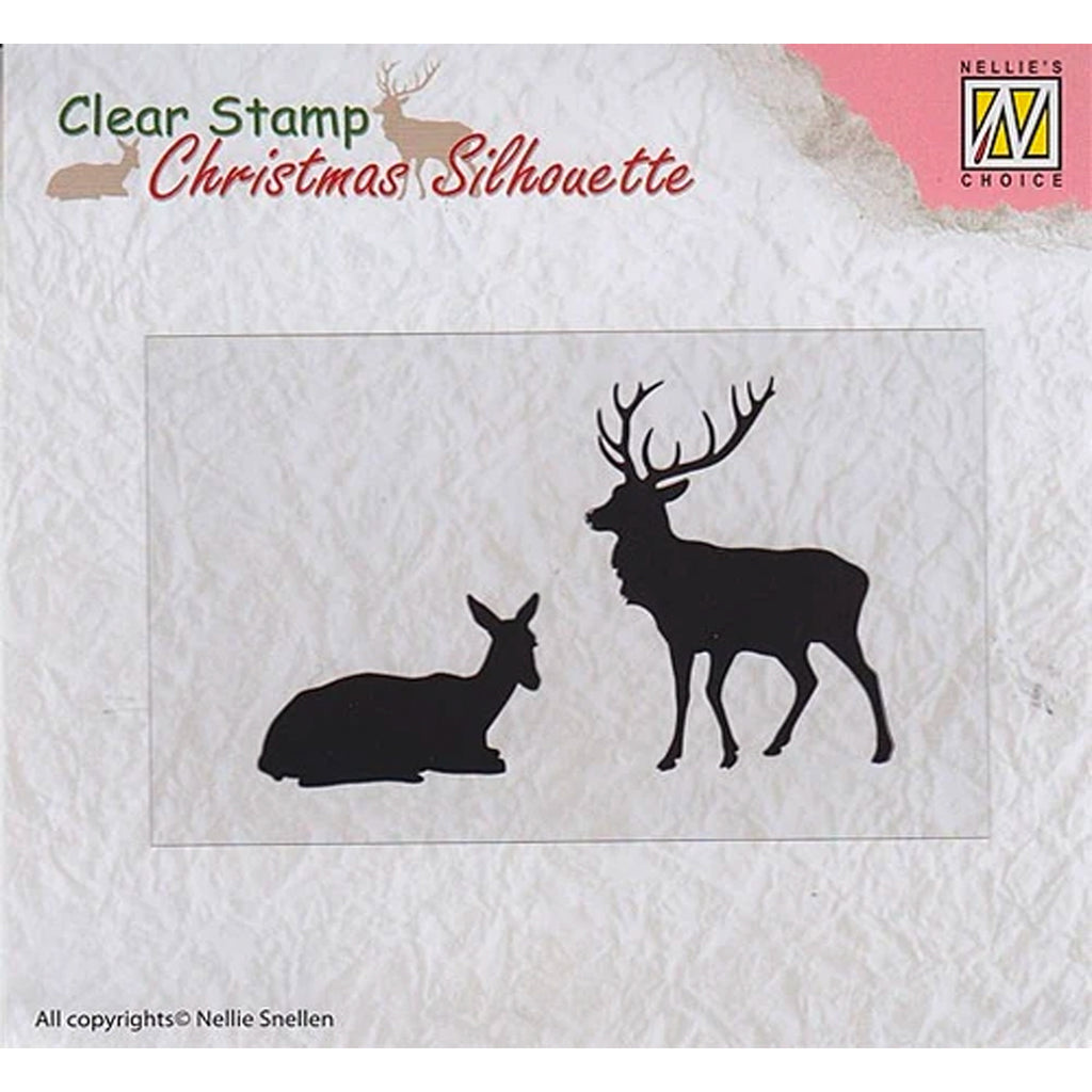 Christmas Silhouette Reindeer Stamp by Nellie's Choice