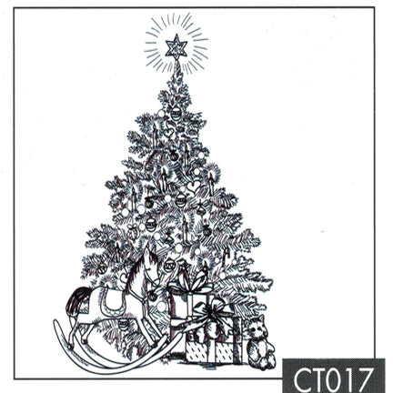 Christmas Time - Christmas Tree with Gifts Stamp by Nellie's Choice