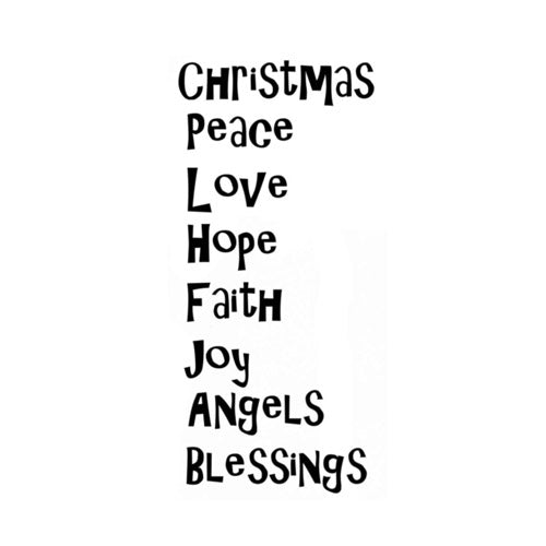 Christmas Blessings by Lavinia Stamps available at Del Bello's Designs