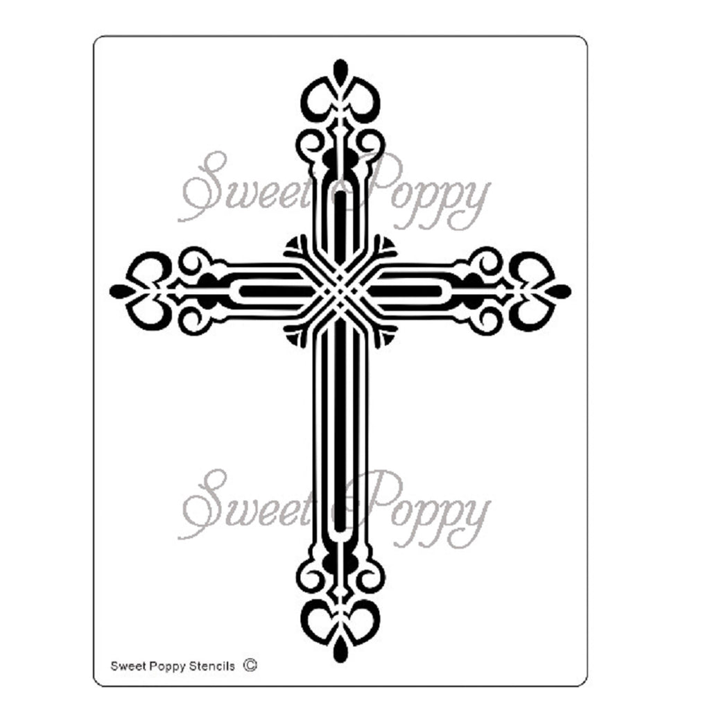 Cross Stencil by Sweet Poppy