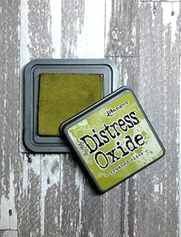 Distress Oxide Crushed Olive Full Size Ink Pad by Ranger/Tim Holtz available at Del Bello's Designs