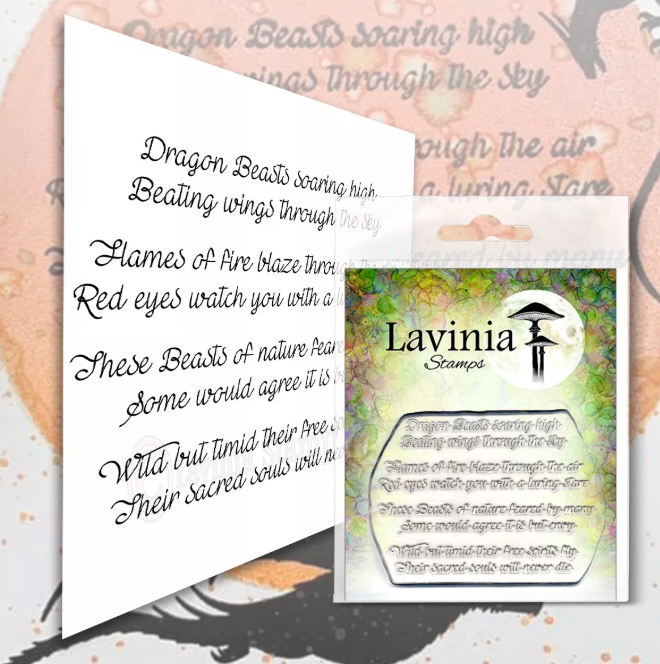 Dragon Verse by Lavinia Stamps LAV555 Artist Tracey Dutton available at Del Bello's Designs