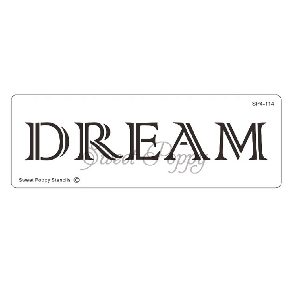 "Inspirational Words ""Dream"" Stencil by Sweet Poppy"