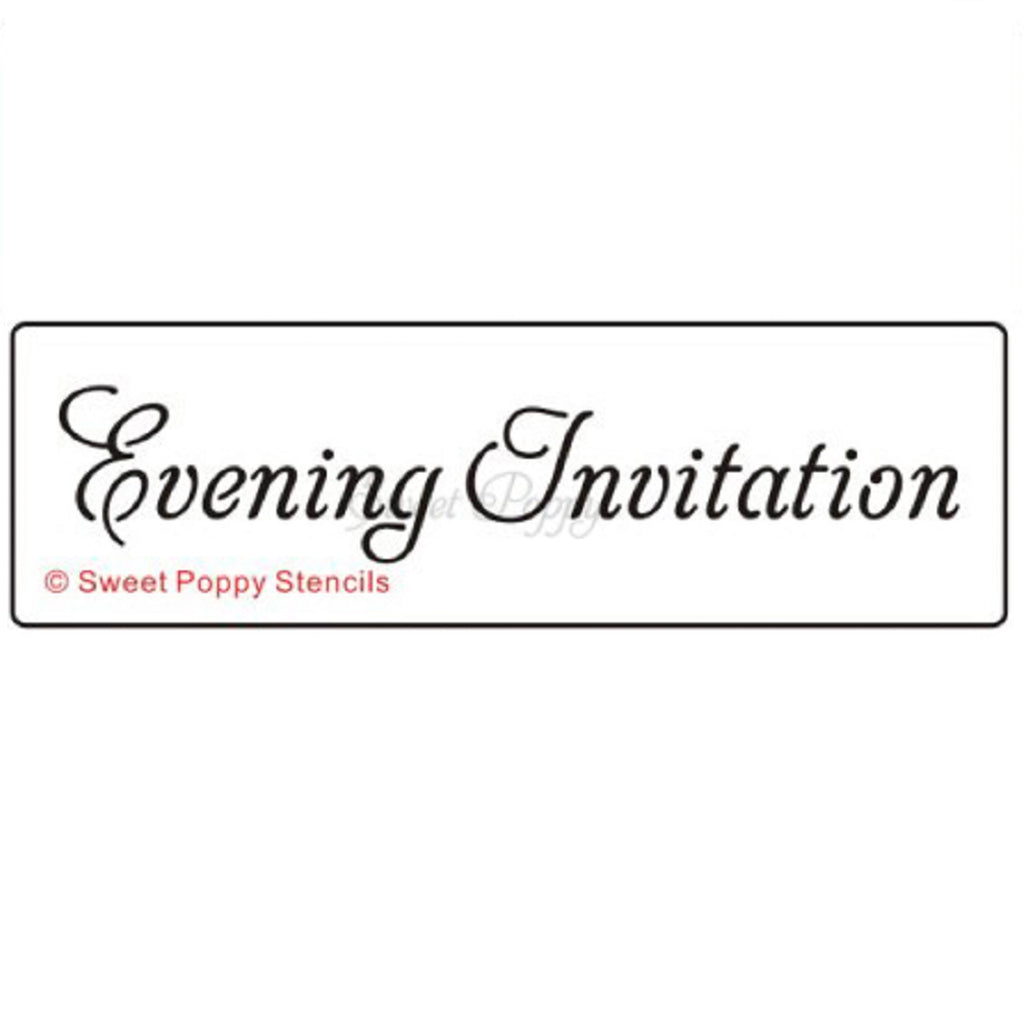 Evening Invitation Stencil by Sweet Poppy