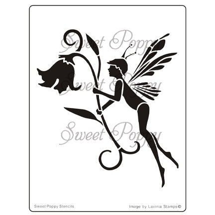 Fairy Bluebell Stencil by Sweet Poppy