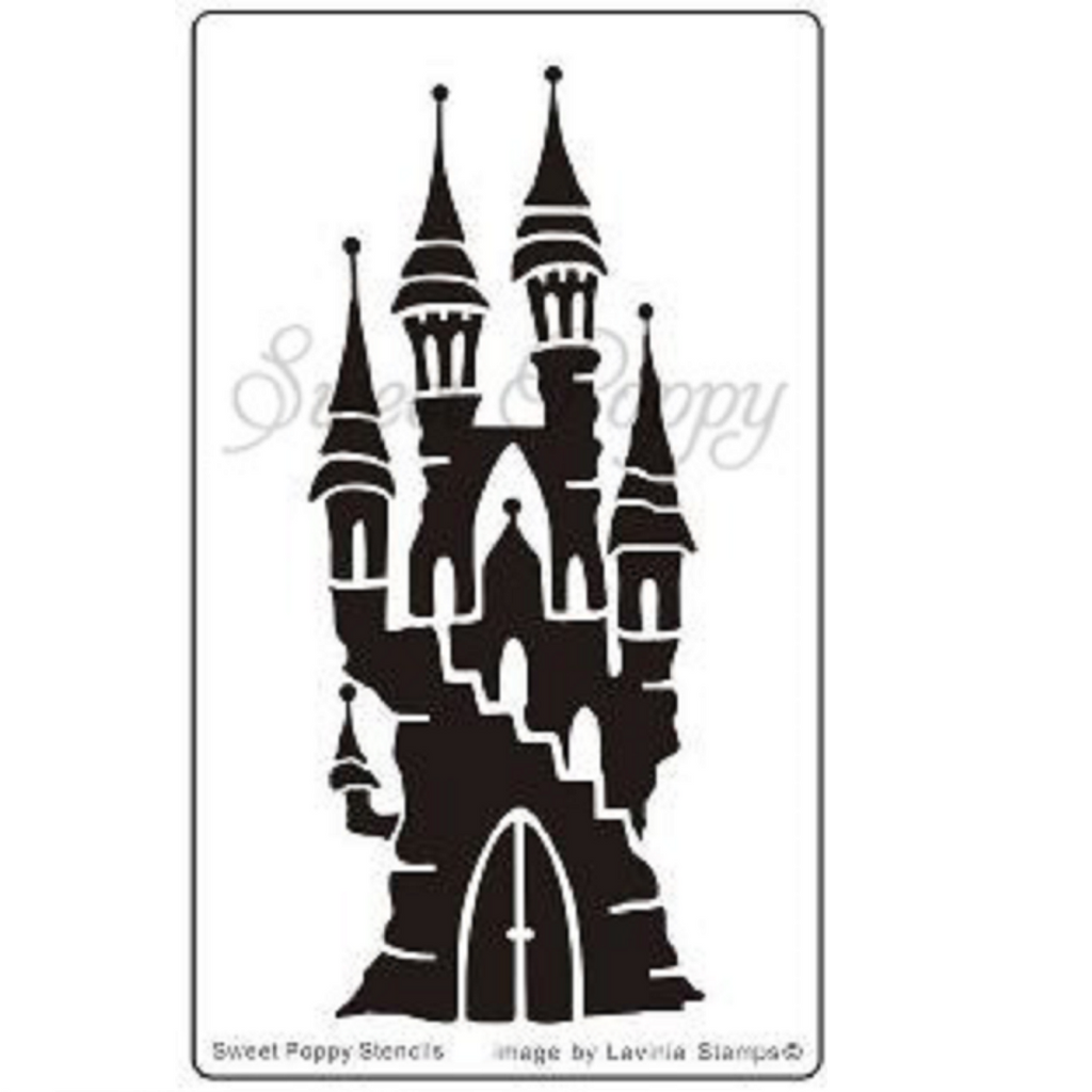 Fairy Castle Stencil by Sweet Poppy