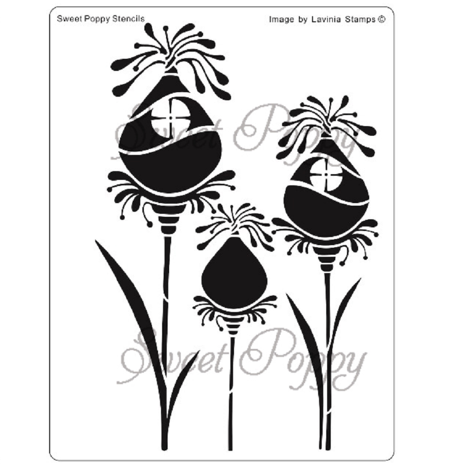 Fairy Pods Stencil by Sweet Poppy
