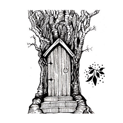 Fairy Door by Lavinia Stamps LAV141 Artist Tracey Dutton available at Del Bello's Designs
