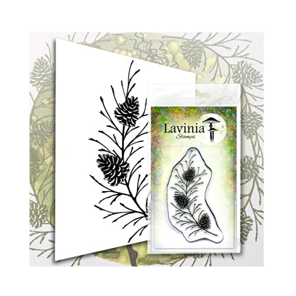 Fir Cone Branch by Lavinia Stamps available at Del Bello's Designs