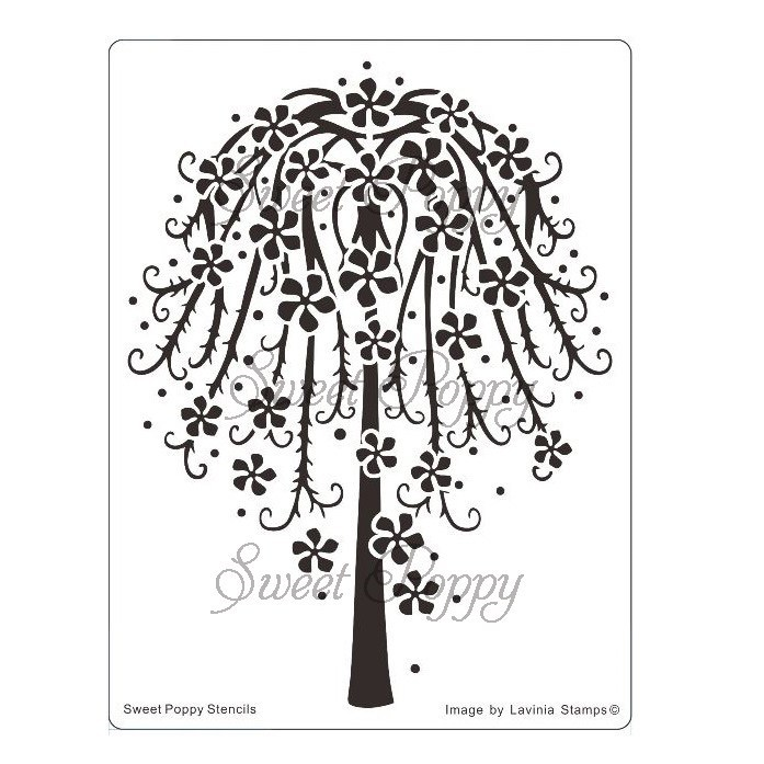 Floral Tree Stencil by Sweet Poppy