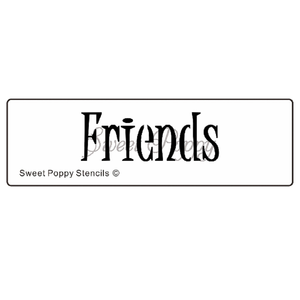 Friends Stencil by Sweet Poppy