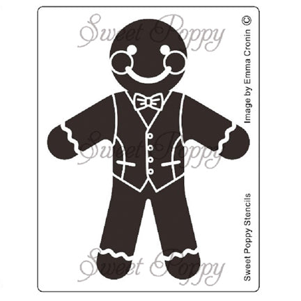 Gingerbread Man Stencil by Sweet Poppy