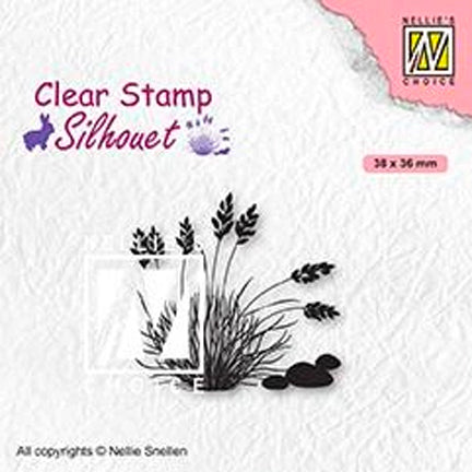 Silhouette Blooming Grass 04 Stamp by Nellie's Choice