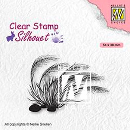 Silhouette Blooming Grass 03 Stamp by Nellie's Choice