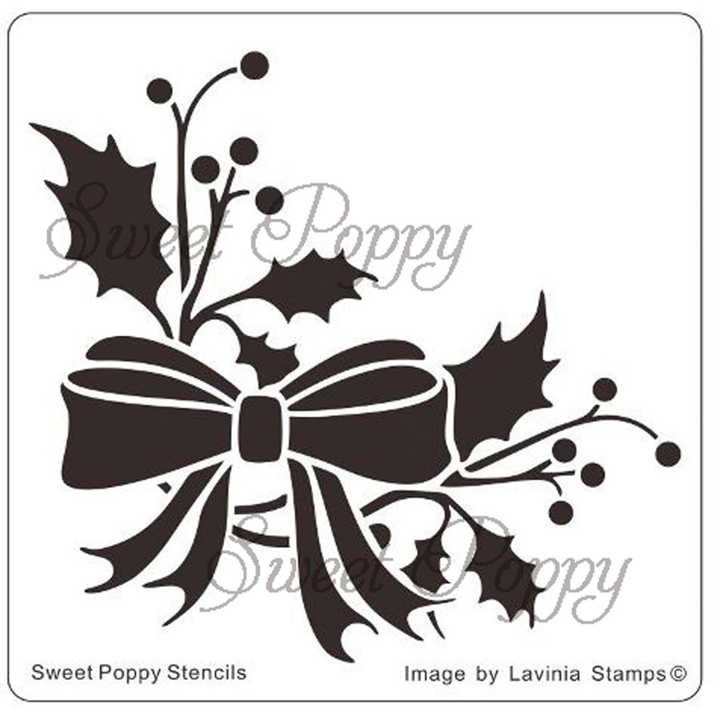 Holly Sprig Stencil by Sweet Poppy