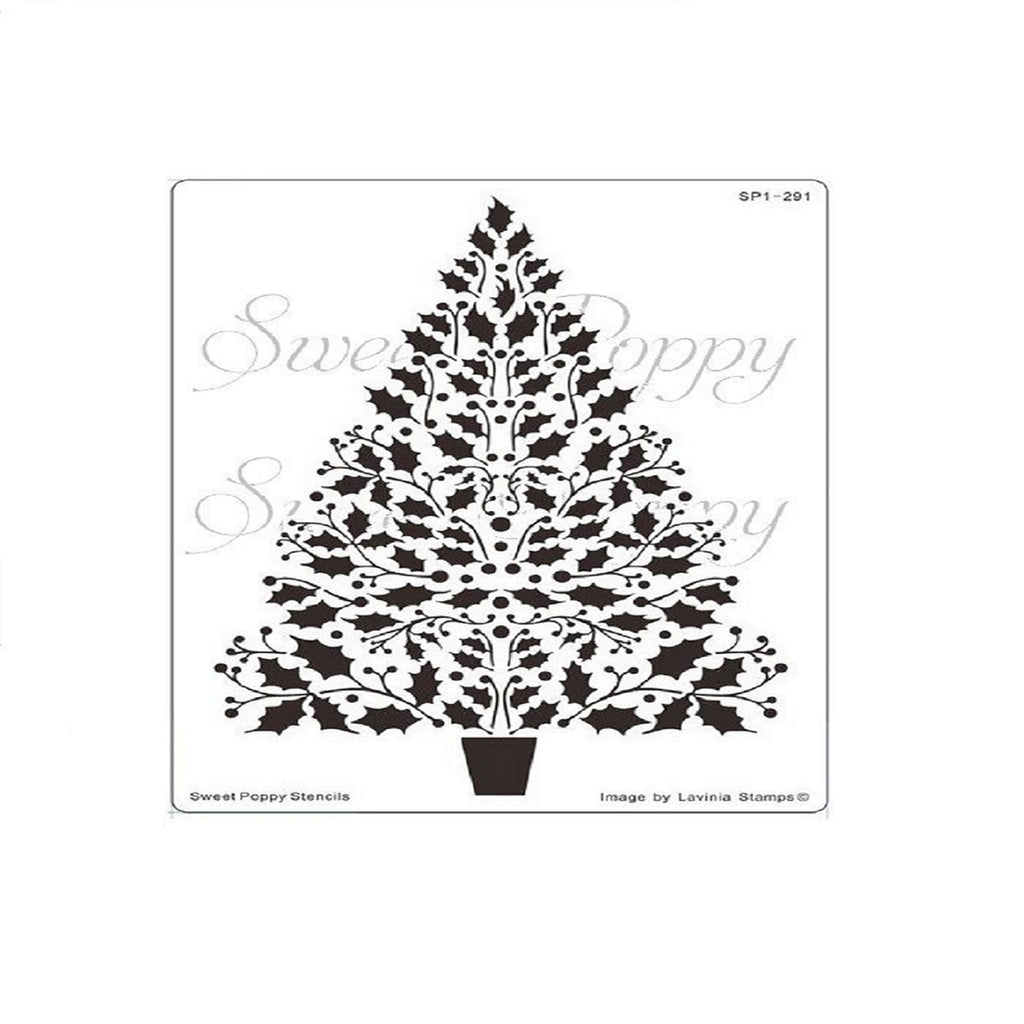 Holly Tree Stencil by Sweet Poppy