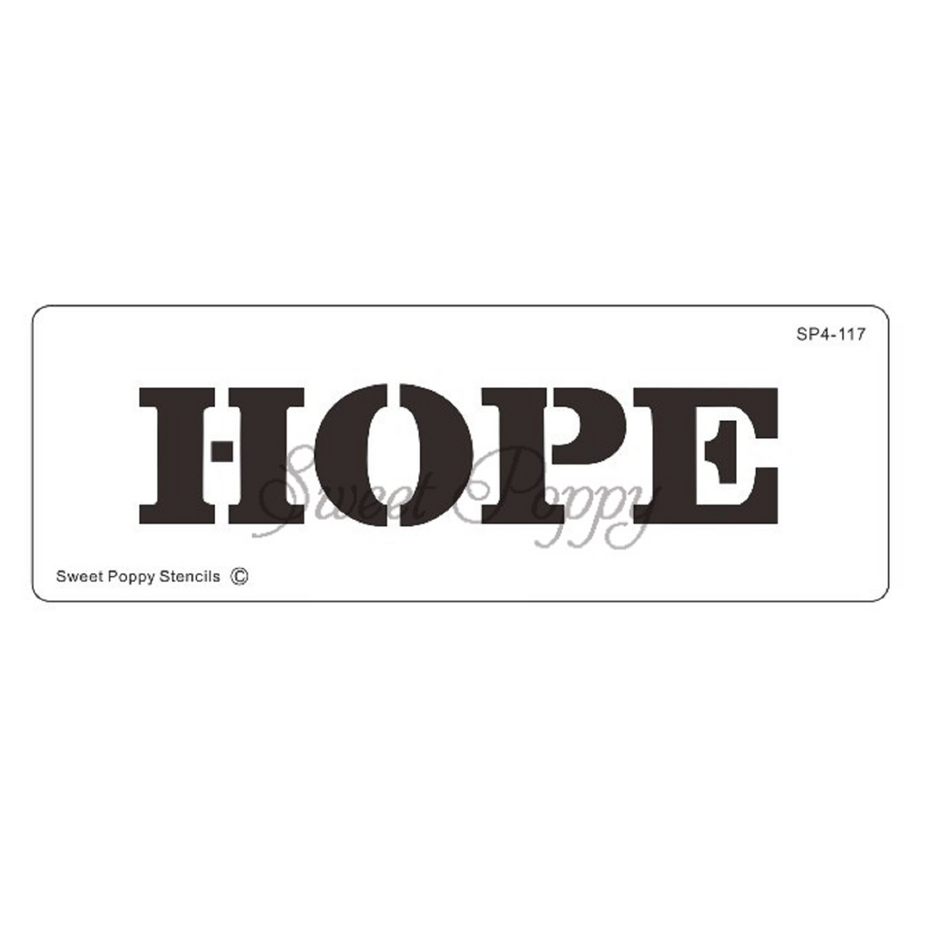 "Inspirational Words ""Hope"" Stencil by Sweet Poppy"