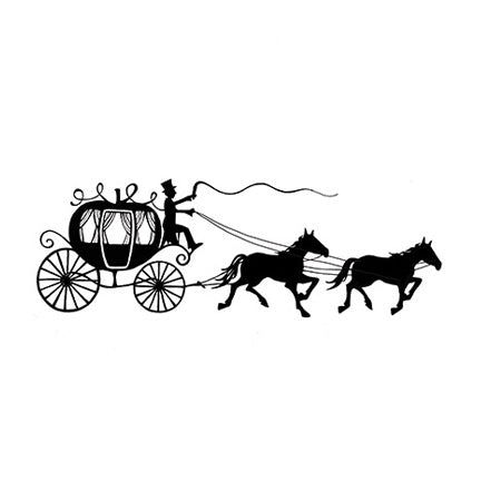 Horse & Carriage by Lavinia Stamps LAV146 Artist Tracey Dutton available at Del Bello's Designs