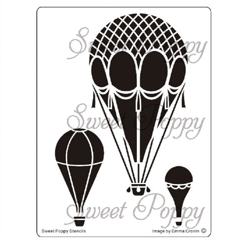 Hot Air Balloons Stencil by Sweet Poppy