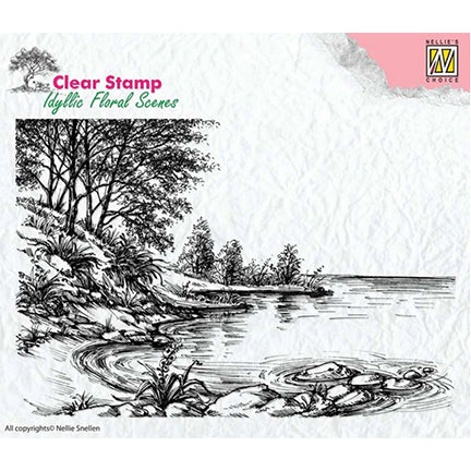Idyllic Floral Scenes - Water's Edge Stamp by Nellie's Choice