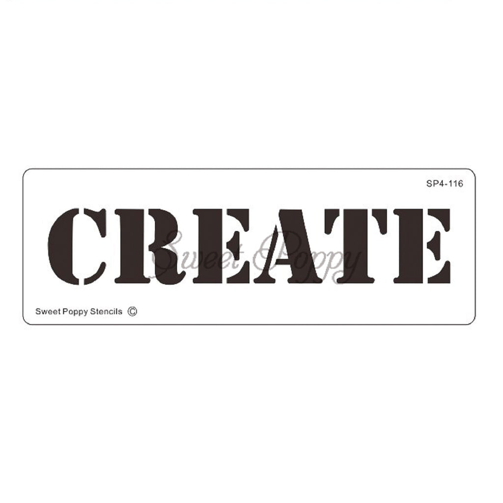 Inspirational Words - Create Stencil by Sweet Poppy