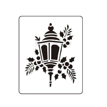 Lantern Stencil by Sweet Poppy