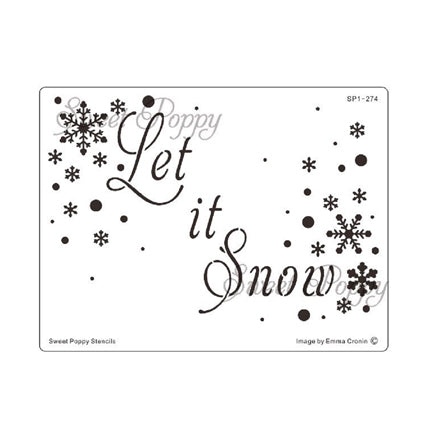 Let It Snow Stencil by Sweet Poppy