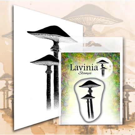Meadow Mushroom (Miniature) by Lavinia Stamps LAV561 Artist Tracey Dutton available at Del Bello's Designs