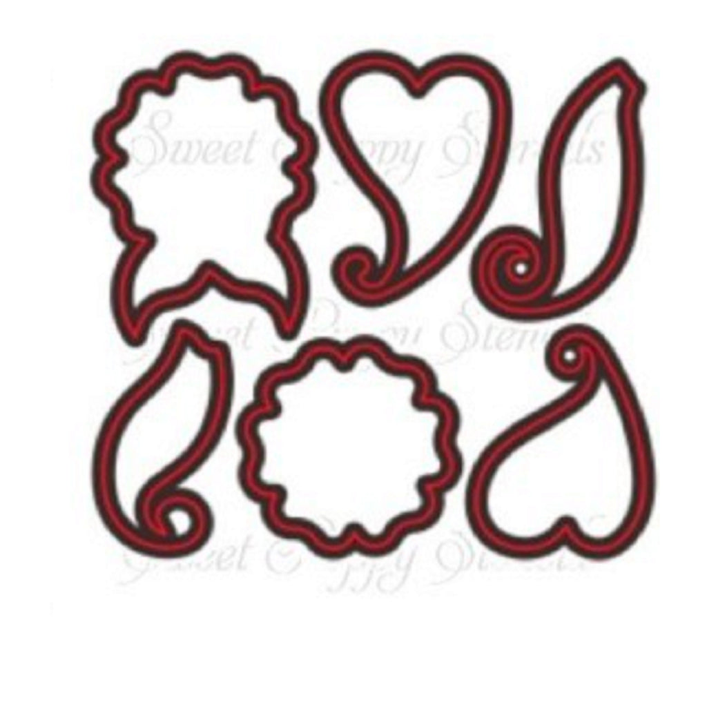 Mehndi Flourish Buddy Die by Sweet Poppy